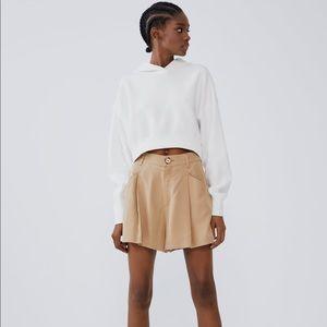 Zara Pocket Shorts in Light Camel